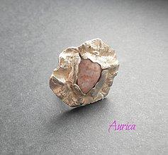 Prstene - Strieborný prsteň - Kvet - 6929324_