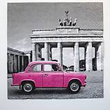 - Servítka RM11 -Ružový trabant - 6929530_