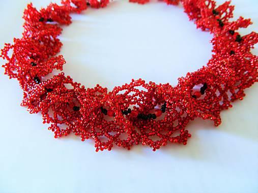 263cee705 Náhrdelník Červená ruža / alzbetina - SAShE.sk - Handmade Náhrdelníky