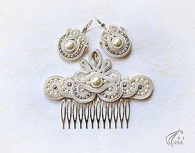 Sady šperkov - Svadobná perlová sada - 6928802_