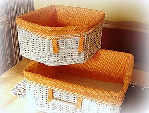 Košíky - Košík rohový oranž - 6926387_