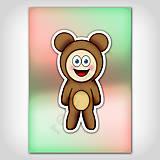 Papiernictvo - Zápisník zvierací kostým (lesk) macko - 6929735_