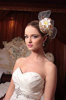 Ozdoby do vlasov - Svadobný fascinátor - 6930415_