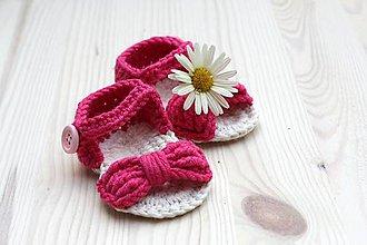 Topánočky - Sandálky Mašľa - 6930494_