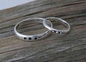 Prstene - 925 Strieborné SNUBNÉ prstene, obrúčky - 6930961_