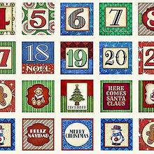 Textil - Christmas Blocks 30cm x 110 cm - 6931766_