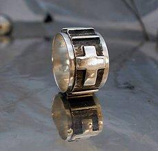 Šperky - ruženec - široký pánsky prsteň - AG 925 - 6932879_