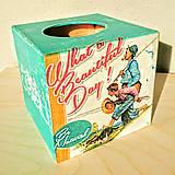 Krabičky - Box na servítky - vreckovky