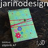 Papiernictvo - Špirálový bloček A7 - kvety - 6930447_