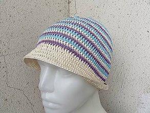 Čiapky - trojfarebný klobúčik - 6930420_