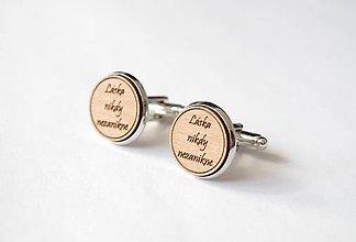 Šperky - Manžetové gombíky - Láska nikdy nezanikne - 6930228_