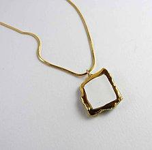 Náhrdelníky - Tana šperky - keramika/zlato - 6930462_