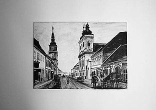 Obrazy - Maľba na plátne Štefánikova ulica Trnava - 6930445_