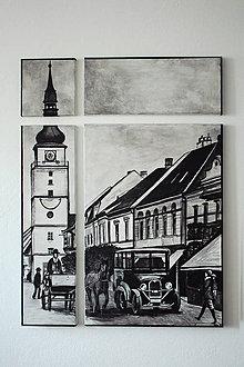 Obrazy - Maľba na plátne Trnava na 4 kusy - 6930456_
