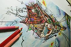 - Omaľovánka - ilustrácia ''Vidiek'' - 6932574_