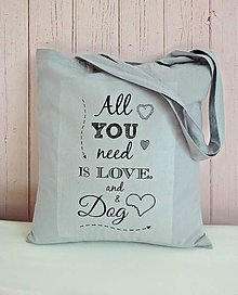 Nákupné tašky - O psíkovi a taštičke - 6932897_