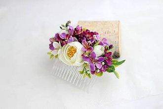 Ozdoby do vlasov - Hrebienok orgovánová vôňa - 6932039_