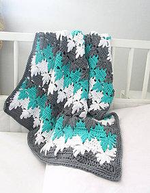 Úžitkový textil - Tyrkysové lístky...SKLADOM (33€) - 6933131_