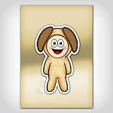 Papiernictvo - Zápisník zvierací kostým (lesk) psík - 6931621_