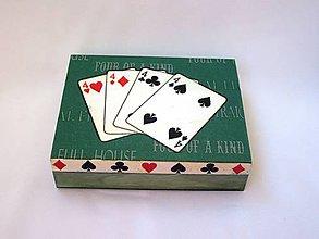 Krabičky - Krabička na hracie karty - 6936065_