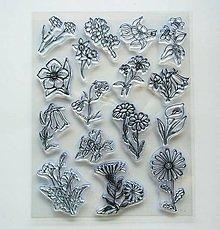 Pomôcky/Nástroje - Silikónové razítka, pečiatky - 14x18 cm -  kvietky, kvetinky - 6935045_