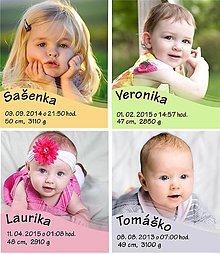 Magnetky - baby magnetka s fotografiou - 6935940_