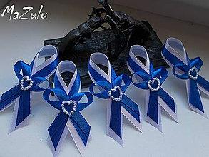 Pierka - svadobné pierka v modrom - 6933414_