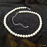 Svadobný náhrdelník perlový