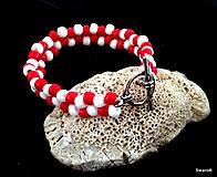Náramky - Náramok červený - 6935014_