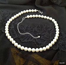 Náhrdelníky - Svadobný náhrdelník perlový - 6934646_