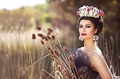 Ozdoby do vlasov - Svadobná kvetinová korunka - 6936087_