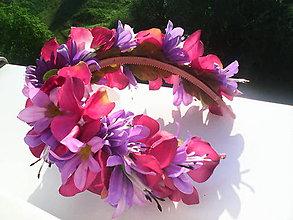 "Ozdoby do vlasov - Parta ""Purple flowers..."" - 6935914_"