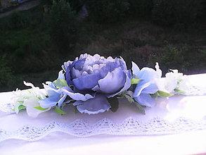 """Opasky - Kvetinový opasok """"Modrá..."""" - 6936025_"""