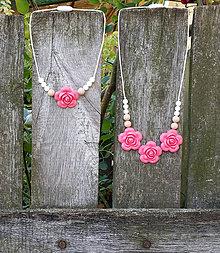 """Detské doplnky - Set silikónových náhrdelníkov """"Mama a dcéra"""" - 6936096_"""