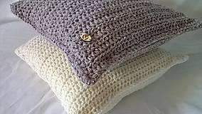 Úžitkový textil - Háčkovaný vankúš Nordic - 6934208_