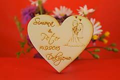 Darčeky pre svadobčanov - Magnetka ako darček pre hosti 45 - 6935662_