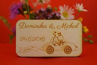 Darčeky pre svadobčanov - Magnetka ako darček pre hosti 37 - 6935745_