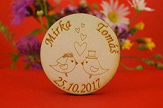 Darčeky pre svadobčanov - Magnetka ako darček pre hosti 36 - 6935794_