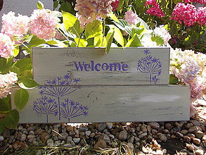 Tabuľky - Tabuľka Welcome - lila - 6938336_