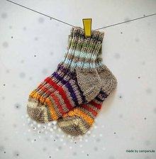 Topánočky - Detské ponožtičky s dúhou - 6939478_