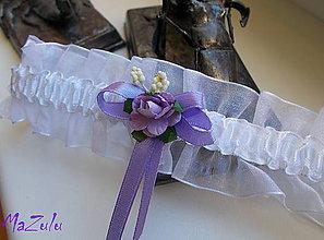 Bielizeň/Plavky - vintage svadobný podväzok II. - 6936683_
