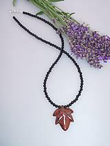 pánsky náhrdelník ónyx a obsidián Mexiko