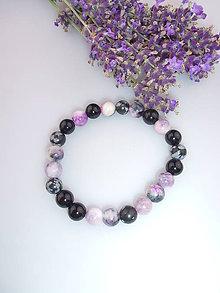 Náramky - ónyx obsidián jadeit náramok - 6936795_