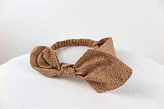 Ozdoby do vlasov - Hnedá čelenka pin-up - 6939505_