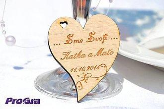 Darčeky pre svadobčanov - Minisrdiečko s magnetkou vzadu - Sme svoji 1C - Akciová cena - 6937262_