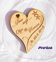 Darčeky pre svadobčanov - Minisrdiečko s magnetkou vzadu - Sme svoji 1E - Akciová cena - 6937381_