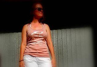 Tielka - Biele pierka - tričko - 6939559_