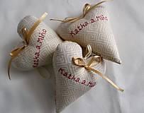 Darčeky pre svadobčanov - Svadobné srdiečka - 6936376_