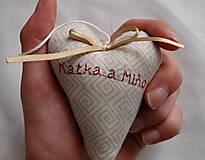 Darčeky pre svadobčanov - Svadobné srdiečka - 6936377_