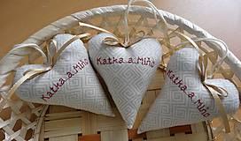 Darčeky pre svadobčanov - Svadobné srdiečka - 6936378_